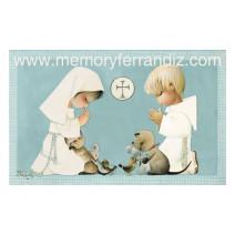 Ferrándiz Communion Box Cards COUPLE COMMUNION 7,5X12cm: 50 units