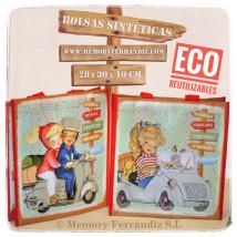 Bolsa Eco personajes reutilizable