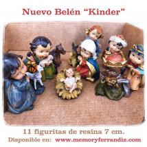 Belén Kinder 11 figuritas Resina