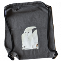 "Bolsa algodón (G) ""Fantasma"". Color grafit, 38x32 cm"