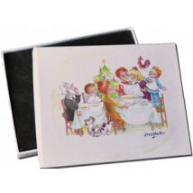 "Caja Bombones o multiusos ""Comida Navidad"" (17x12x3cm)"