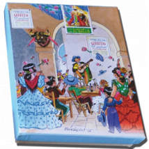 "Caja Bombones o multiusos ""Tablao Flamenco"" (17x12x3cm)"