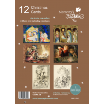 """Pack 12 Christmas+ sobre (12 x 17 cm). Serie """"Nacimientos"""".  CHPK 12."""