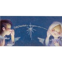 "Tarjeta ""Feliz Navidad"" + sobre  (10 x 21 cm)"