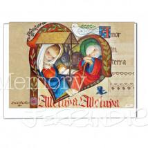 Tarjeta Christmas Ferrándiz  CORAZÓN MEDIEVAL, 12 X 17 cm