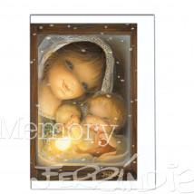 Tarjeta Christmas Memory Ferrándiz VIRGEN MANTILLA.  12 X 17 cm