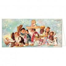 Tarjeta Christmas NIÑOS DEL MUNDO Ferrándiz  10 x 21 cm