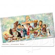 Tarjeta Postal Christmas Ferrándiz NIÑOS DEL MUNDO, 10 x 21