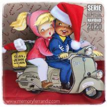 cuento Olga y Jorge en vespa. Especial Navidad