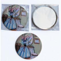 Espejo Ferrándiz -RATITA PRESUMIDA- 76 mm. Espejo de bolsillo con la imagen de la Ratita