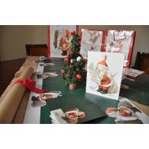 "Mantel- Hule Camino de mesa ""Papa Noël"""