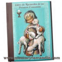 """Libro de Recuerdos Primera Comunión """"Angelito Pastor"""". OM."""