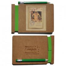 Libreta mini con goma elástica color APÓSTOL SANTIAGO+ lápiz  12,5 x 8,5 x 0,6 cm.