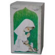 "Mini Peana Madera  Artesana ""Serie Verde Niña"""