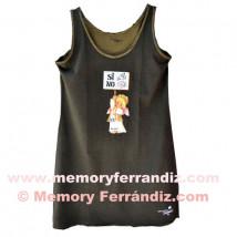 Vestido Hippy playero sin mangas Memory Ferrándiz -