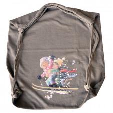 Bolsa algodón ESQUIADORES Memory Ferrándiz, Color topo