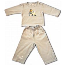 "Camiseta manga larga y pantalón largo ""biscuter"" . Color piedra computer"