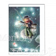 Tarjeta Christmas Memory Ferrándiz PESCADOR.  12 X 17 cm