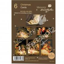 Christmas Ferrándiz, NOCHEBUENA, 6 tarjetas navideñas, 12 cm x 17 cm