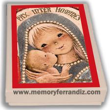 Cajita recordatorios Comunión Ferrándiz -VIRGEN GÓTICA PLATEADA-Memory Ferrándiz