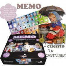 """Juego MEMO + cuento """"La Castañera"""". 108 fichas"""