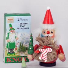 Muñeco madera smoker PAPÁ NOEL + cajita incienso