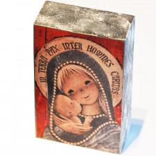 "Peana Madera Artesana ""Virgen Gótica plateada"". Serie limitada."