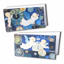 Christmas troquelados Ferrándiz, serie AÑO NUEVO,  Pack 2 tarjetas