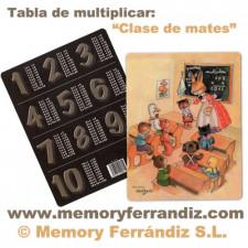 "Tabla de multiplicar Ferrándiz ""Clase de matemáticas"" © Memory Ferrándiz : 14x18cm"
