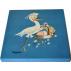 Picture in digital canvas STORK Ferrándiz Size 30x30cm Mounted on wooden frame