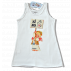 Vestido playero ibicenco -HIPPY- Memory Ferrándiz.  Color blanco. INFANTIL. Niña